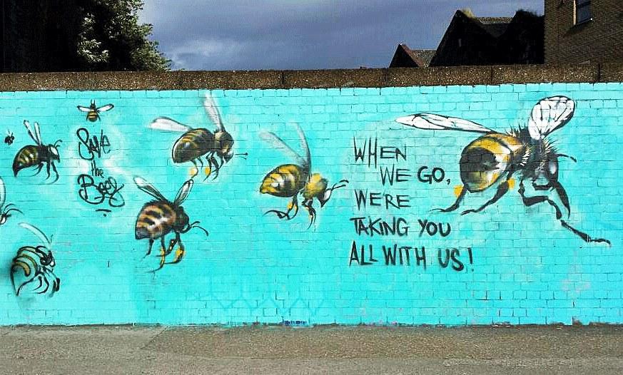 Bildergebnis für bienen graffitti